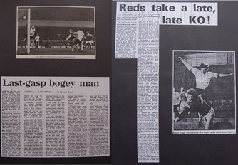 Press reports from Adrian Killen's scrapbook