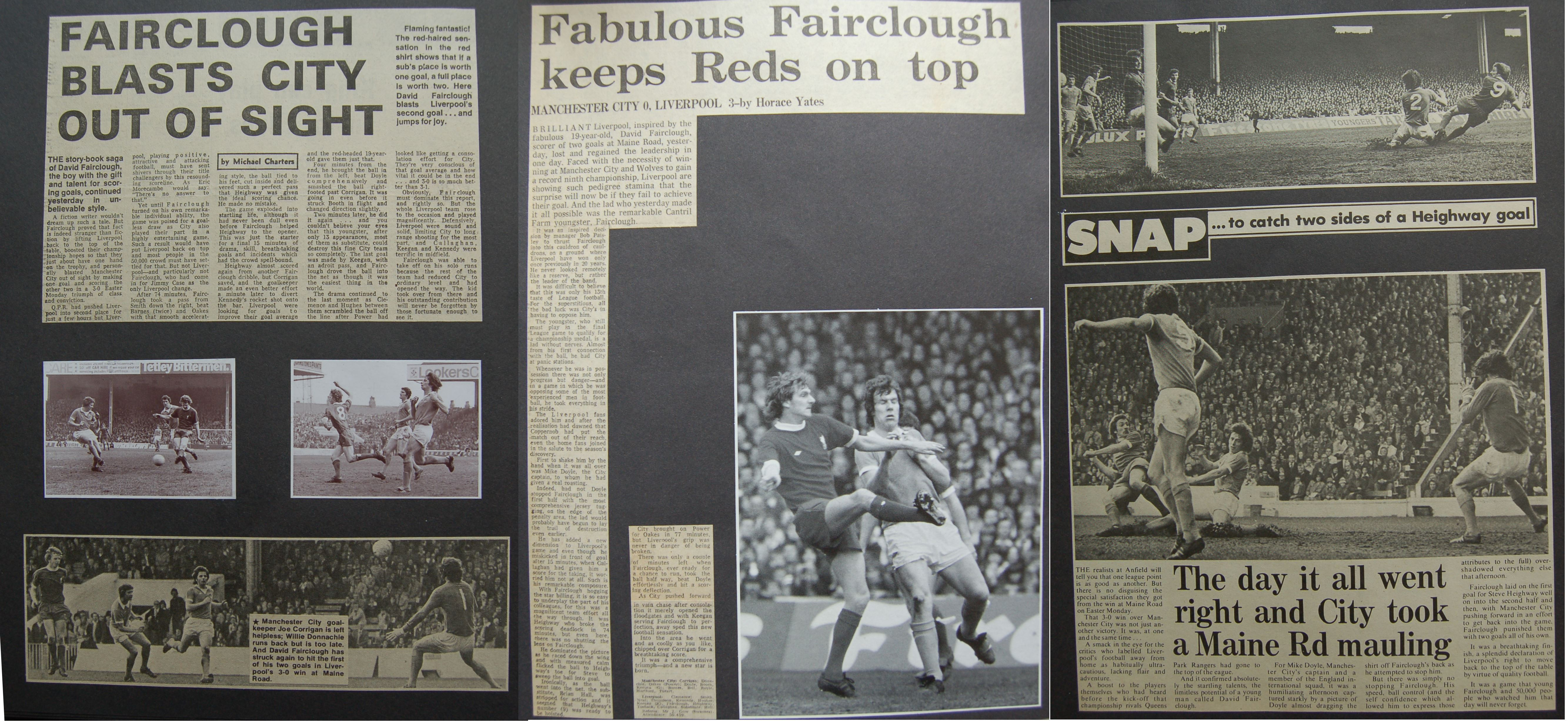 Fairclough blasts City out of sight - 19 April 1976