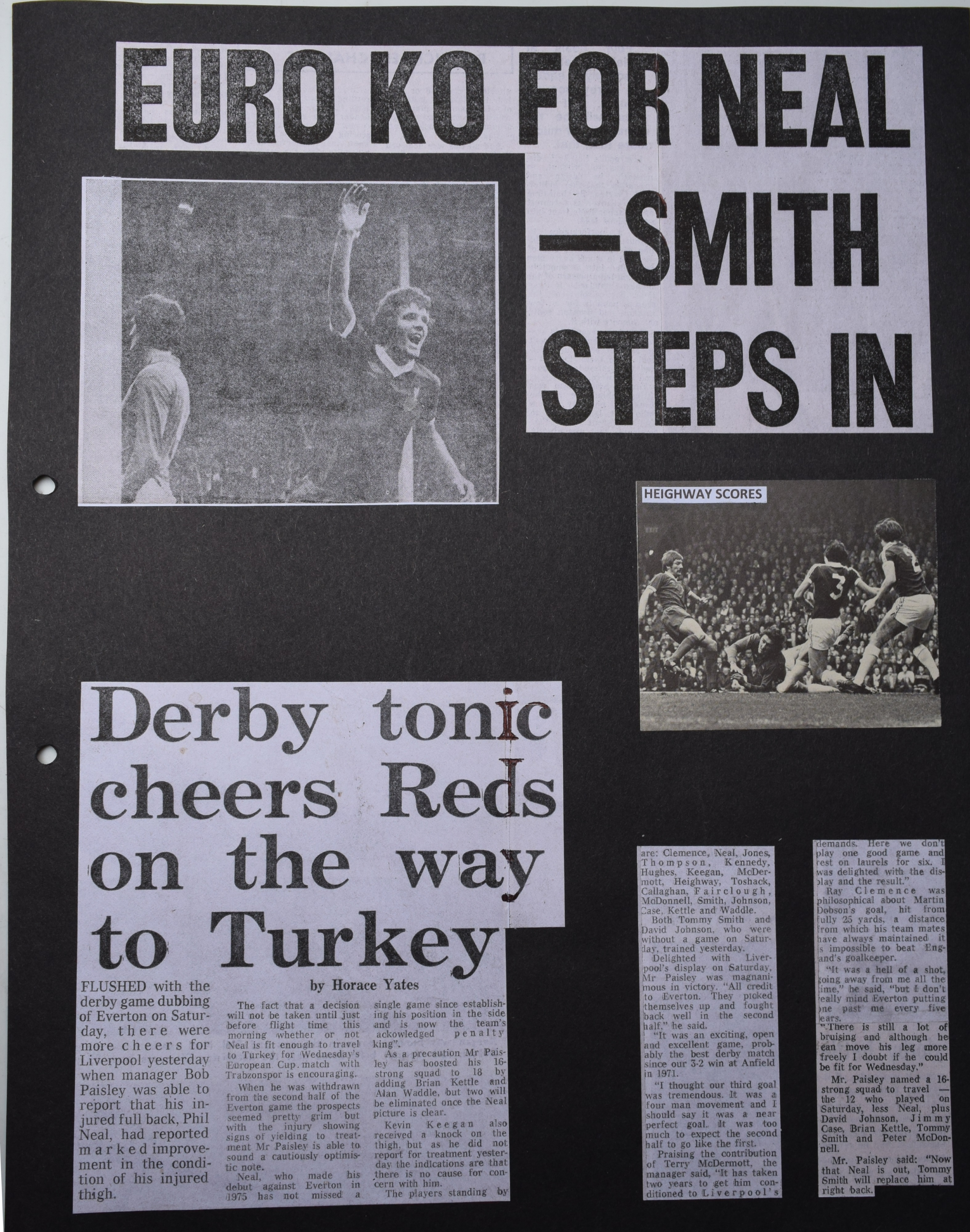 Euro KO for Neal - Smith steps in - 20 October 1976