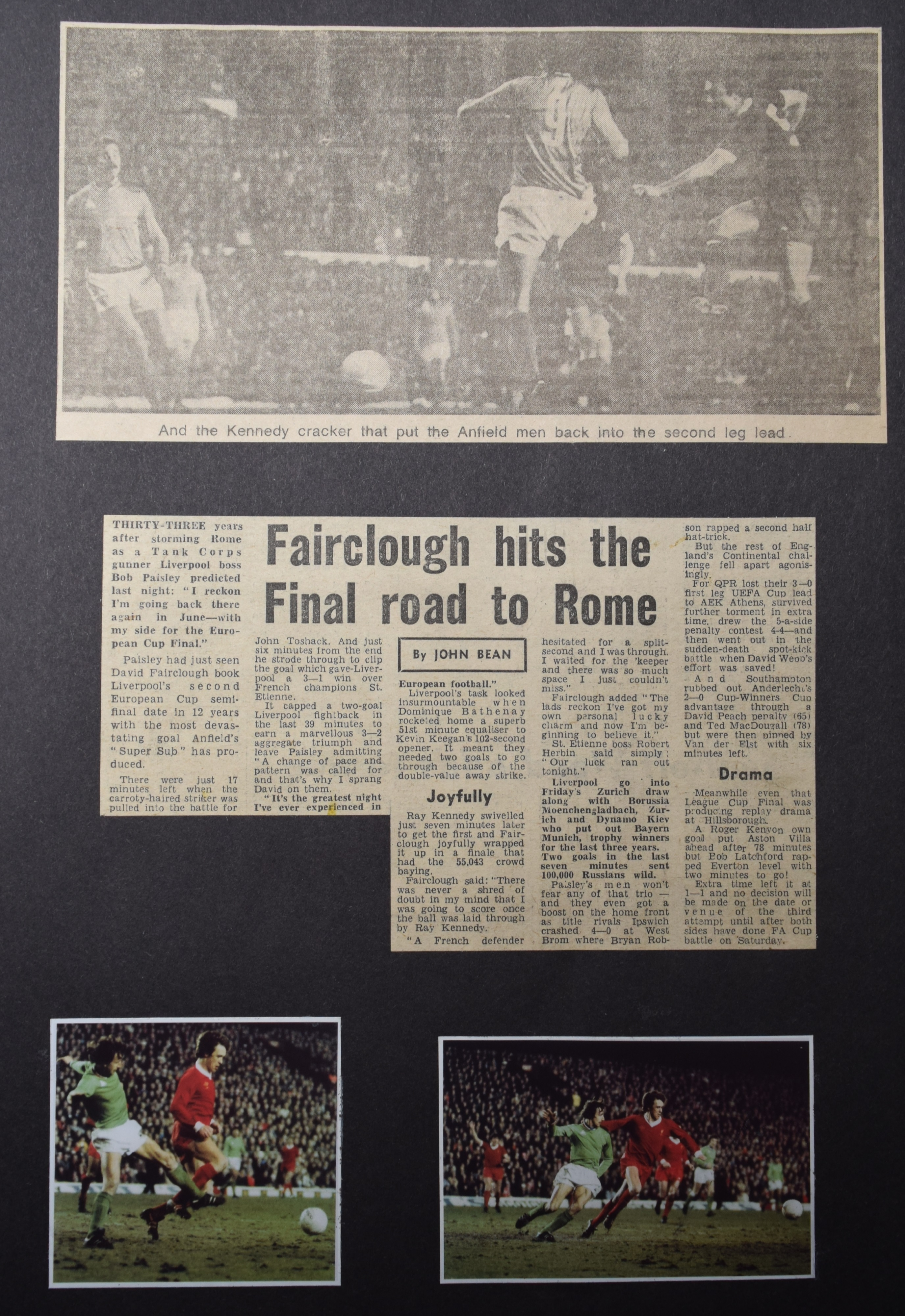 Fairclough hits the final road to Rome