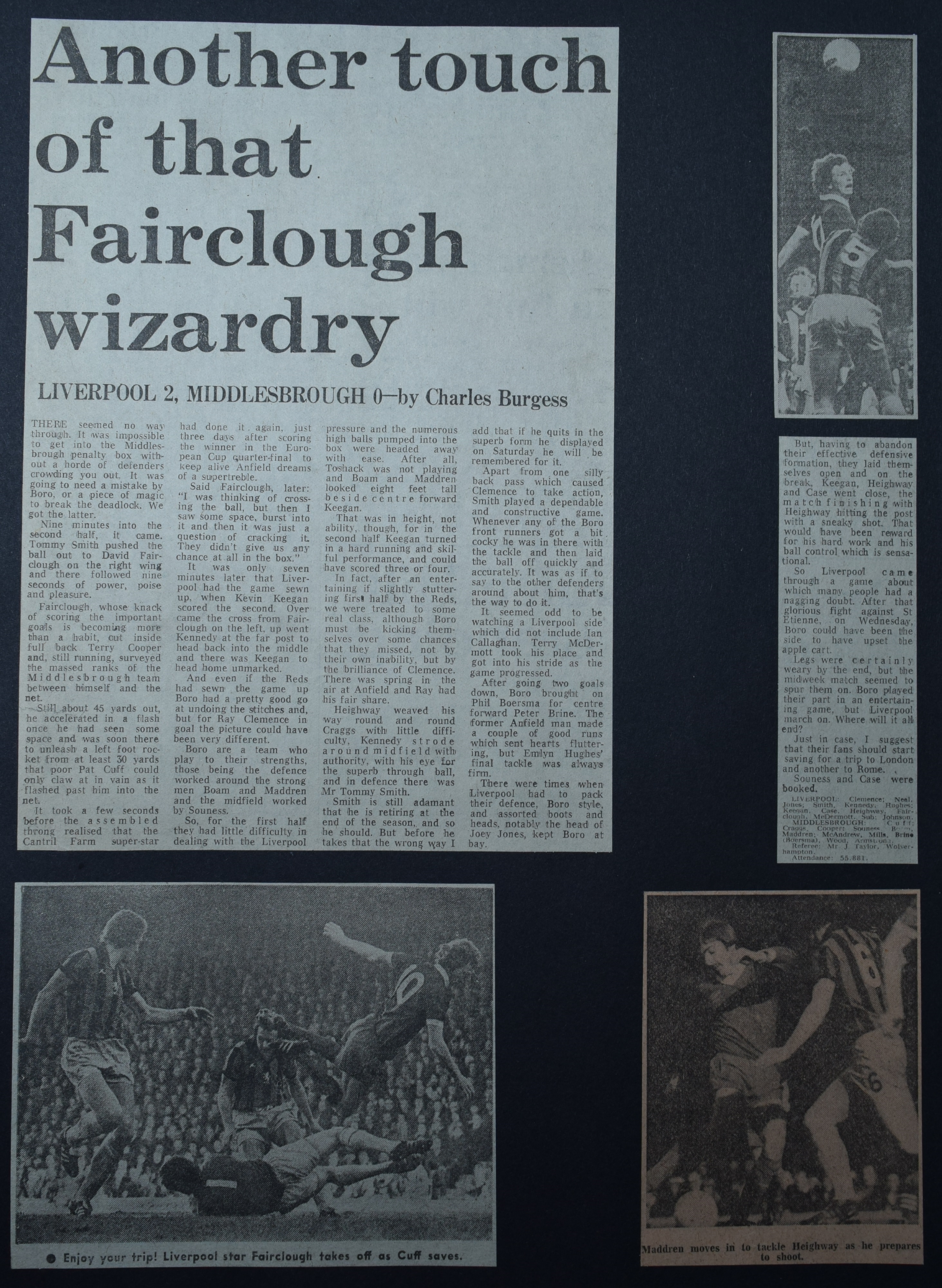 Another touch of that Fairclough wizadry! - 19 March 1977