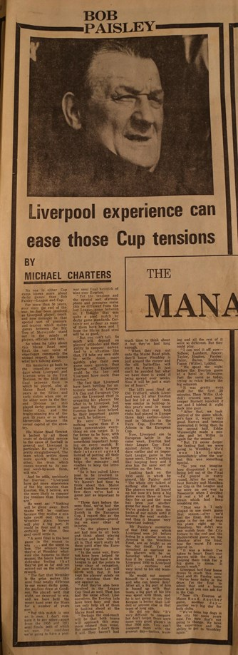 Liverpool experience can ease those Cup tensions - 23 April 1977