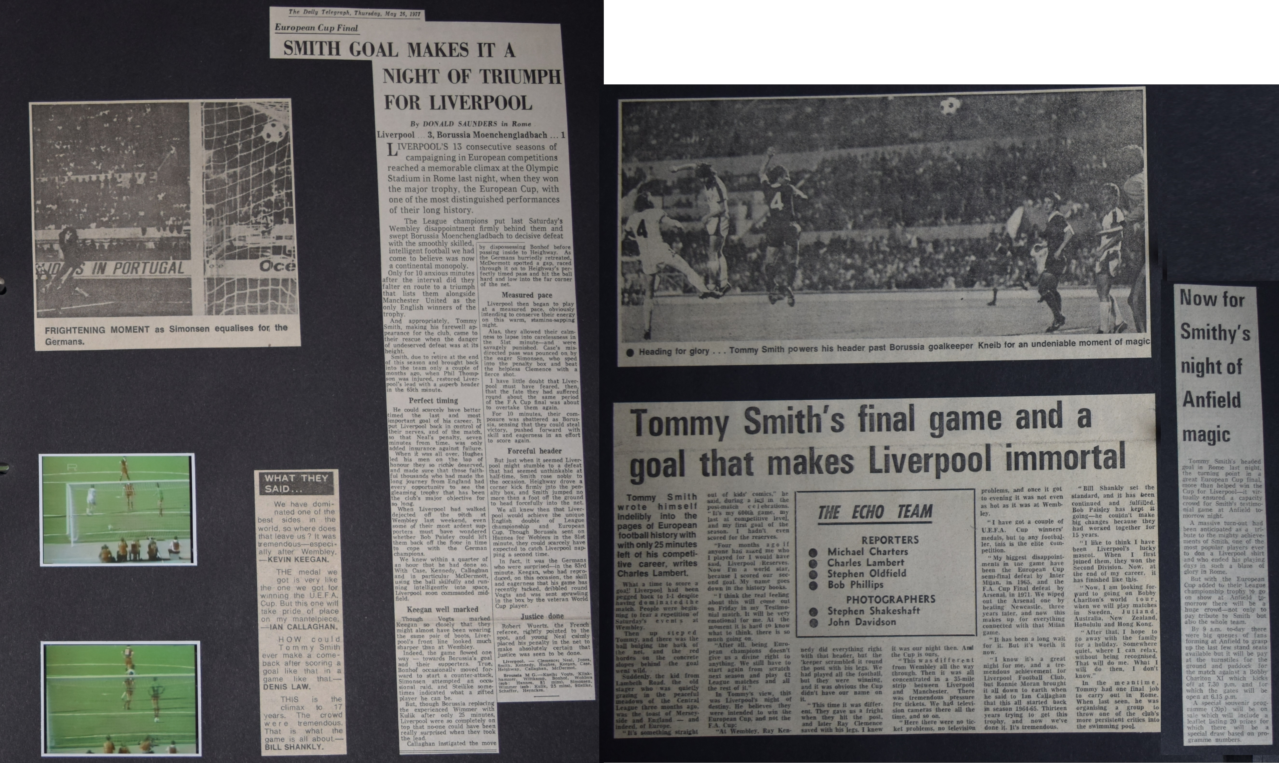 Tommy Smith's final game and a goal that makes Liverpool immortal!