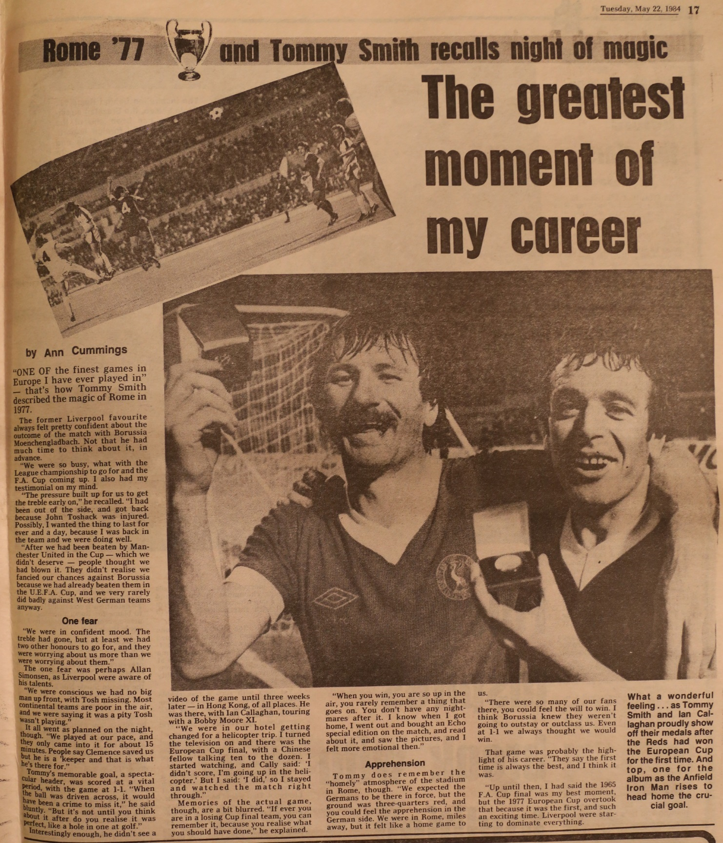 Smith on his greatest moment - 22 May 1984
