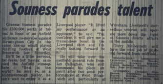 Souness parades talent - 21 January 1978