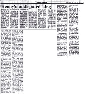 Kenny's undisputed king