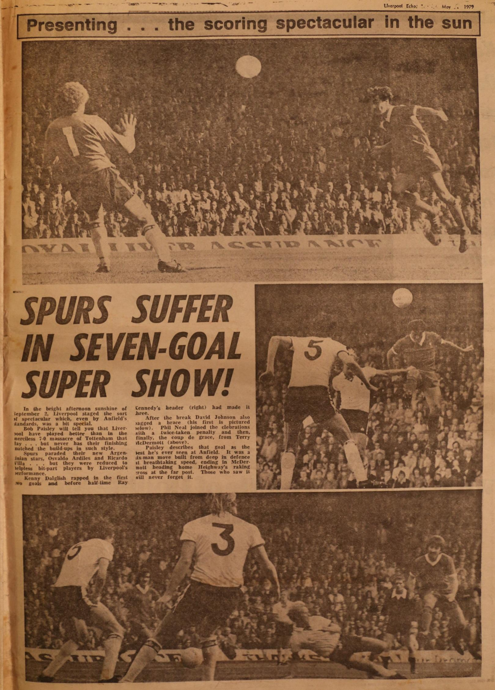 The scoring spectacular in the sun - 2 September 1978