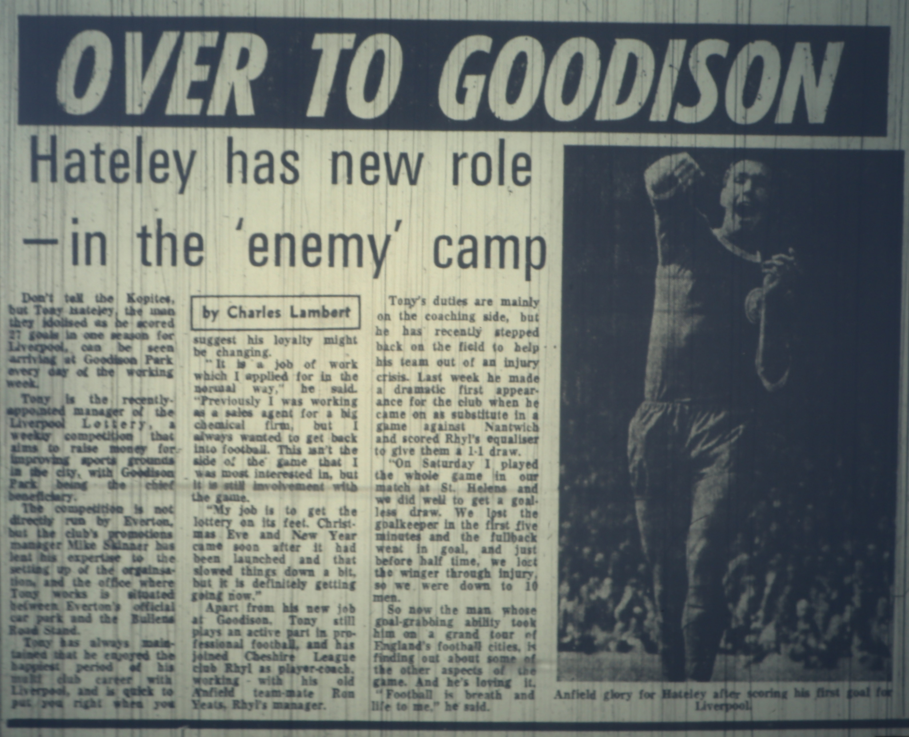 Hateley over to Goodison - 1978