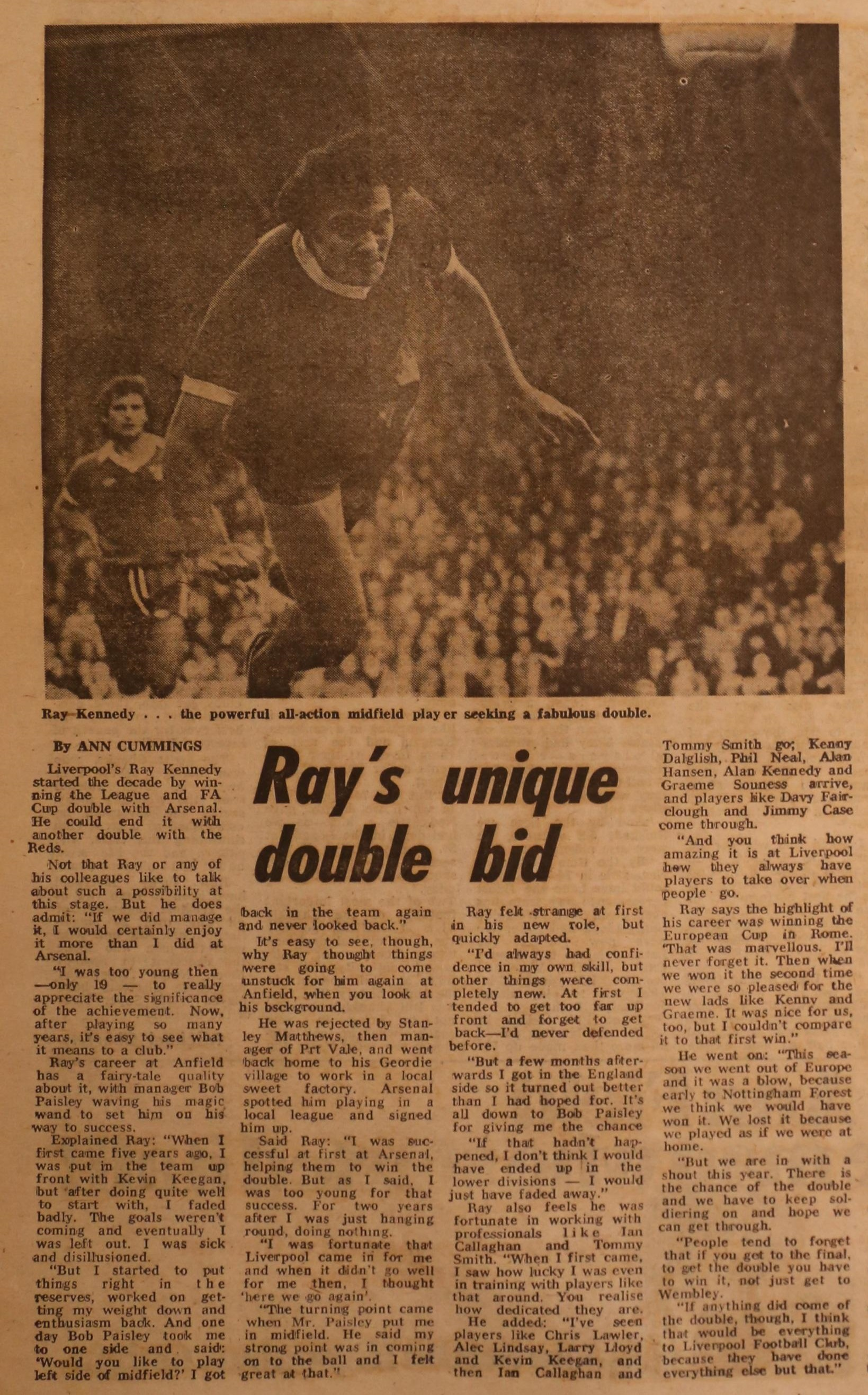 Ray's unique double bid - March 1979