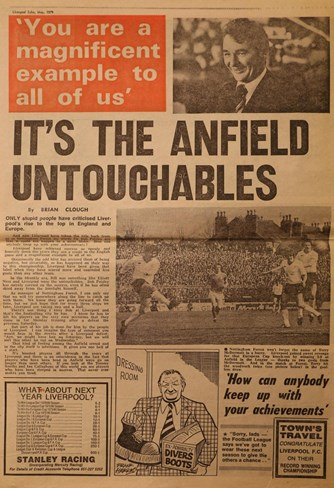 Brian Clough praises the Anfield untouchables