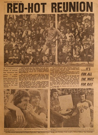 Scenes from Clemence's testimonial on 14 May 1980
