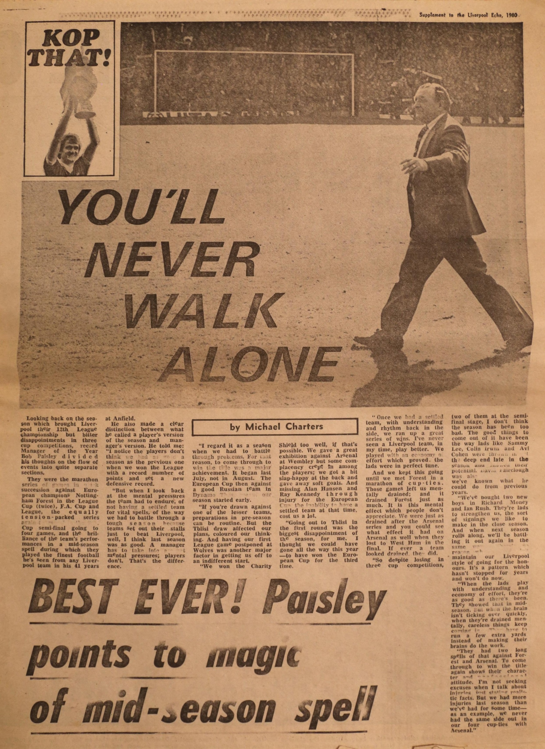 Paisley points to magic of mid-season spell - 1980