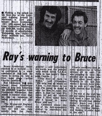 Ray's warning to Bruce - March 1981