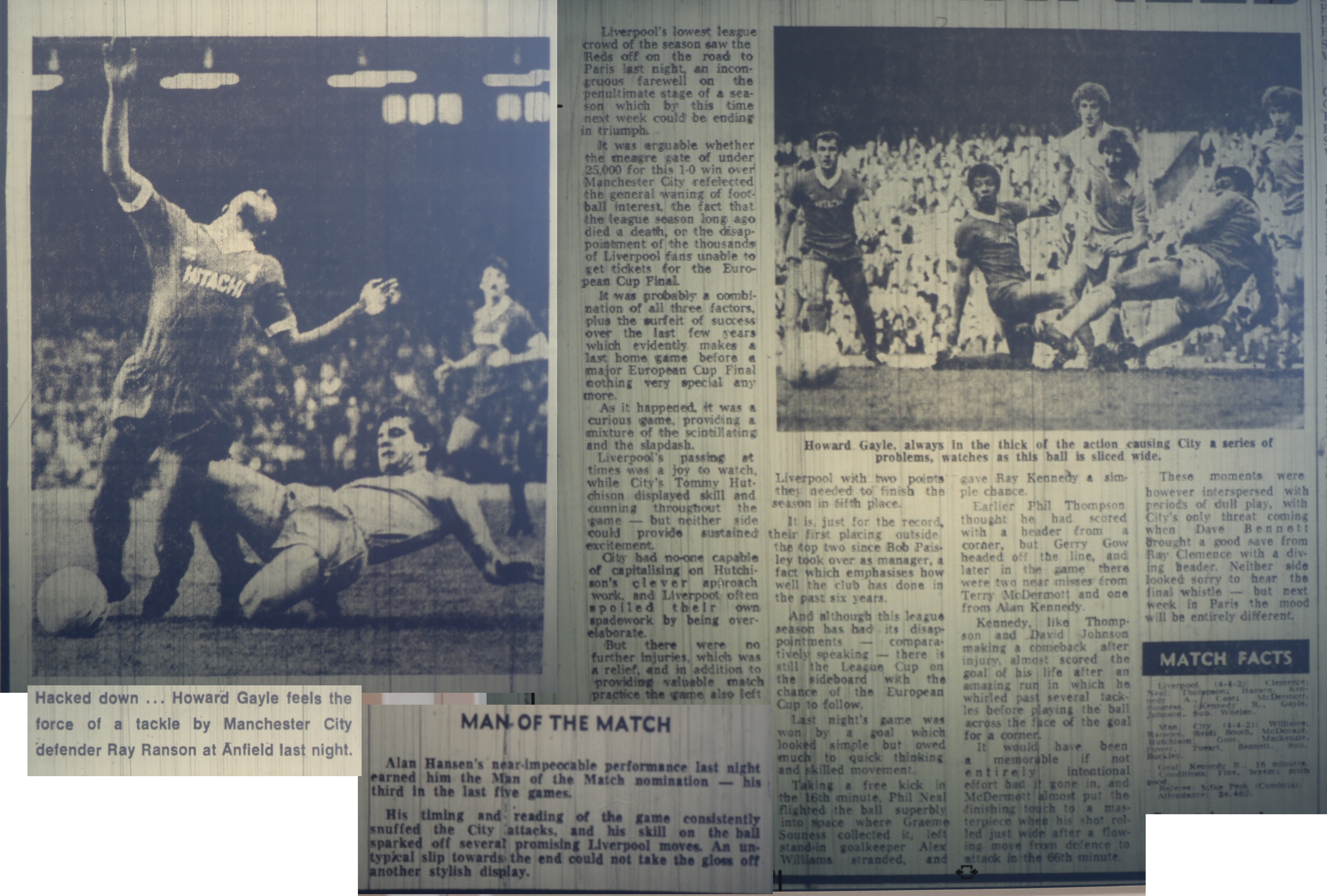 Liverpool Echo report from Liverpool - Man City on 19 May 1981