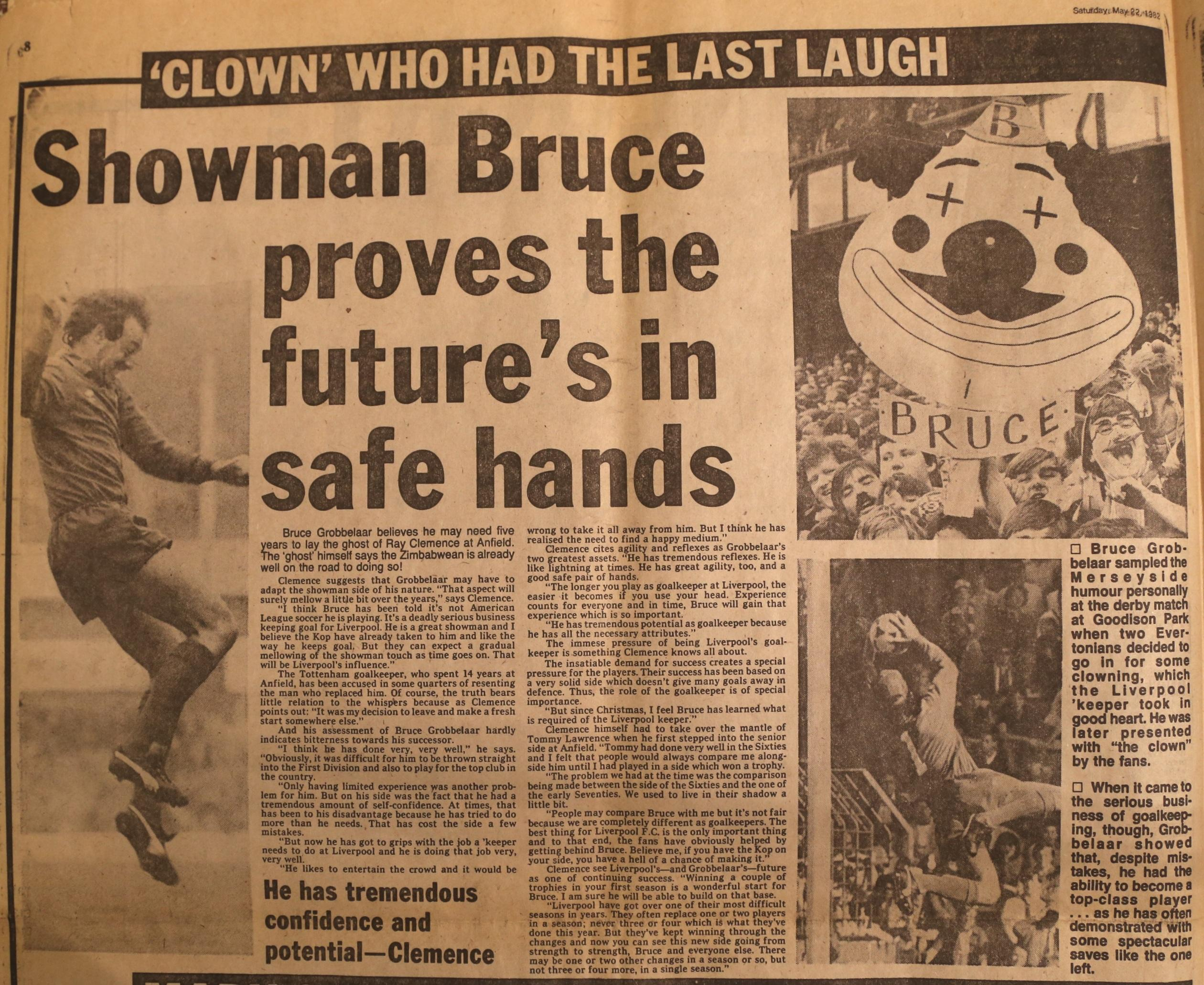 Showman Bruce proves the future is in safe hands - May 1982