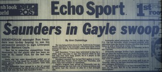 Gayle swoop on cards - January 1983