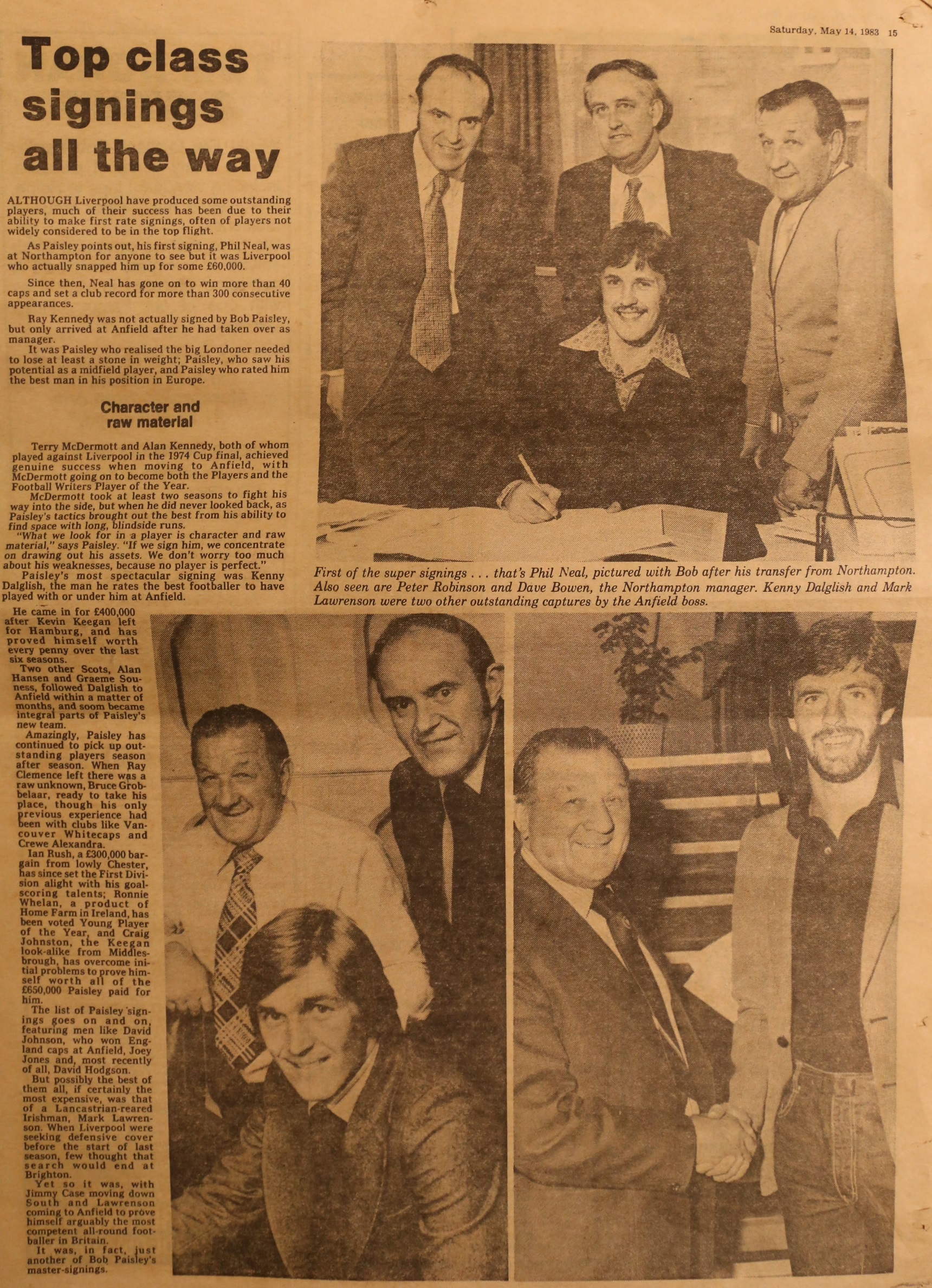 Top class signings all the way - 14 May 1983