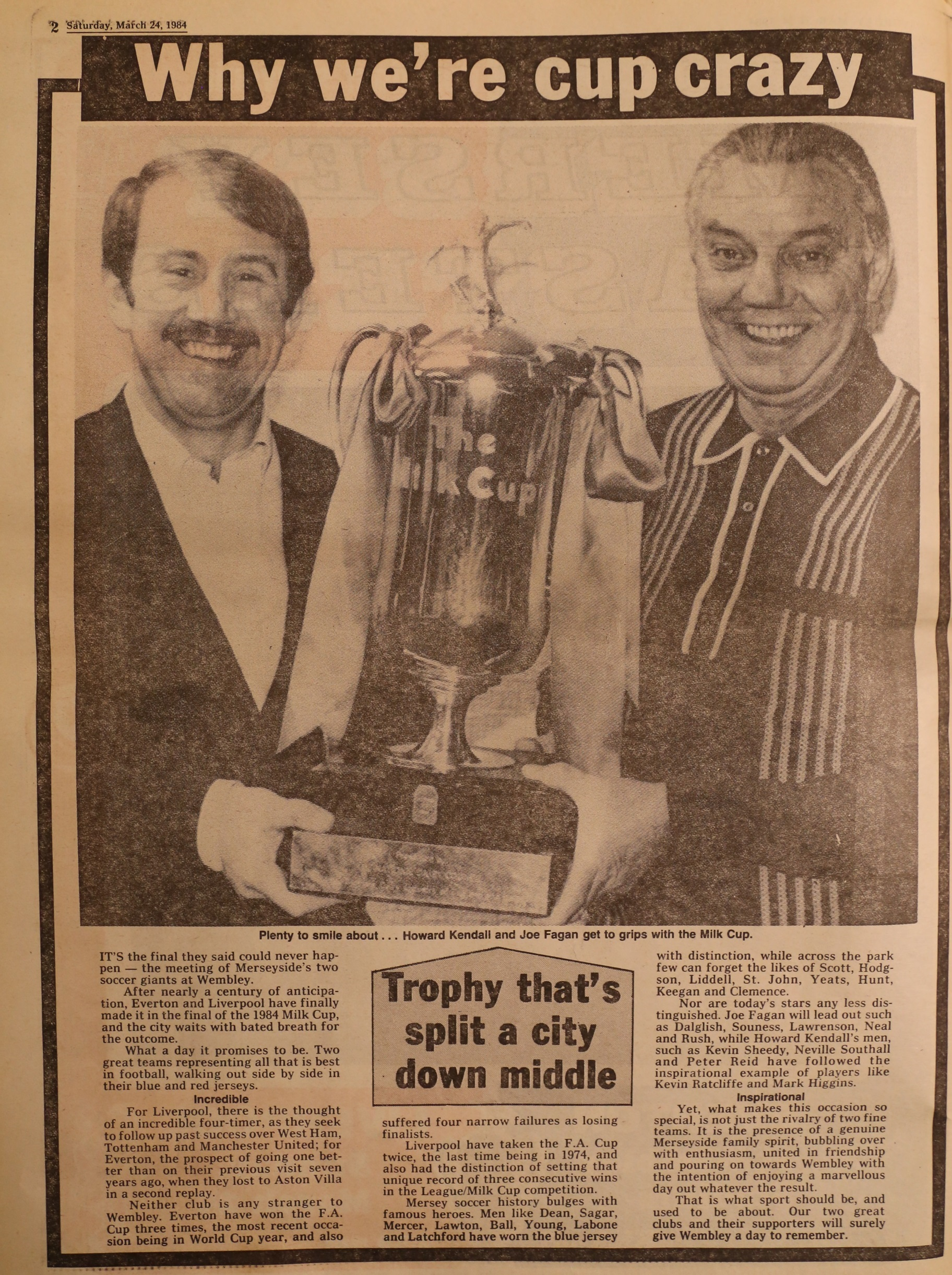 Why we're cup crazy! - 24 March 1984