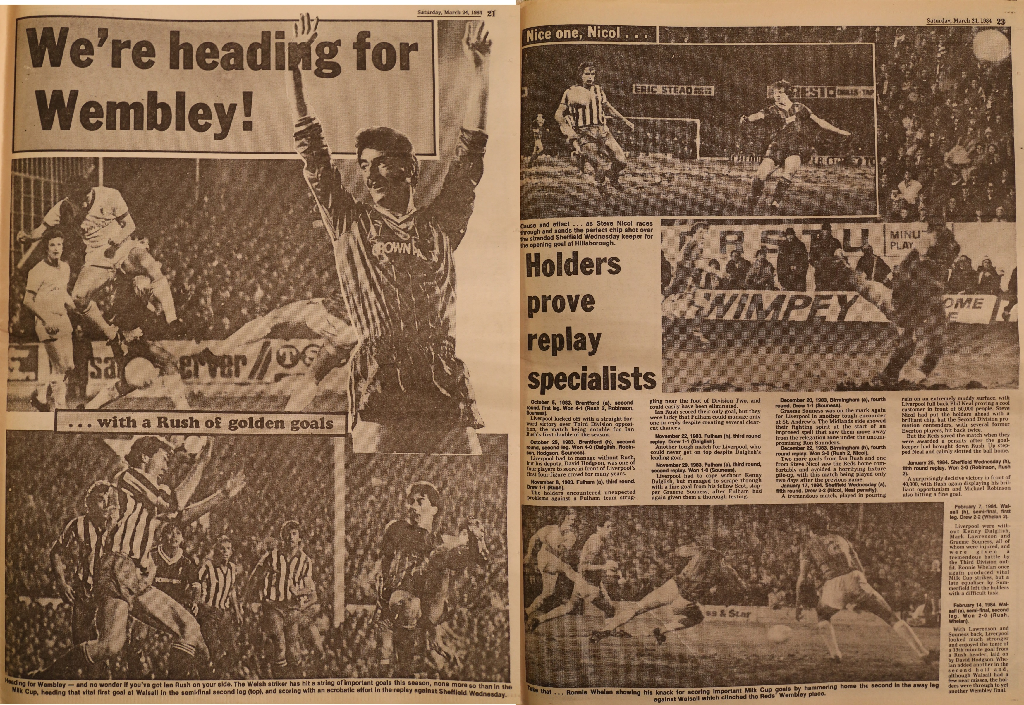 We're heading for Wembley - 25 March 1983