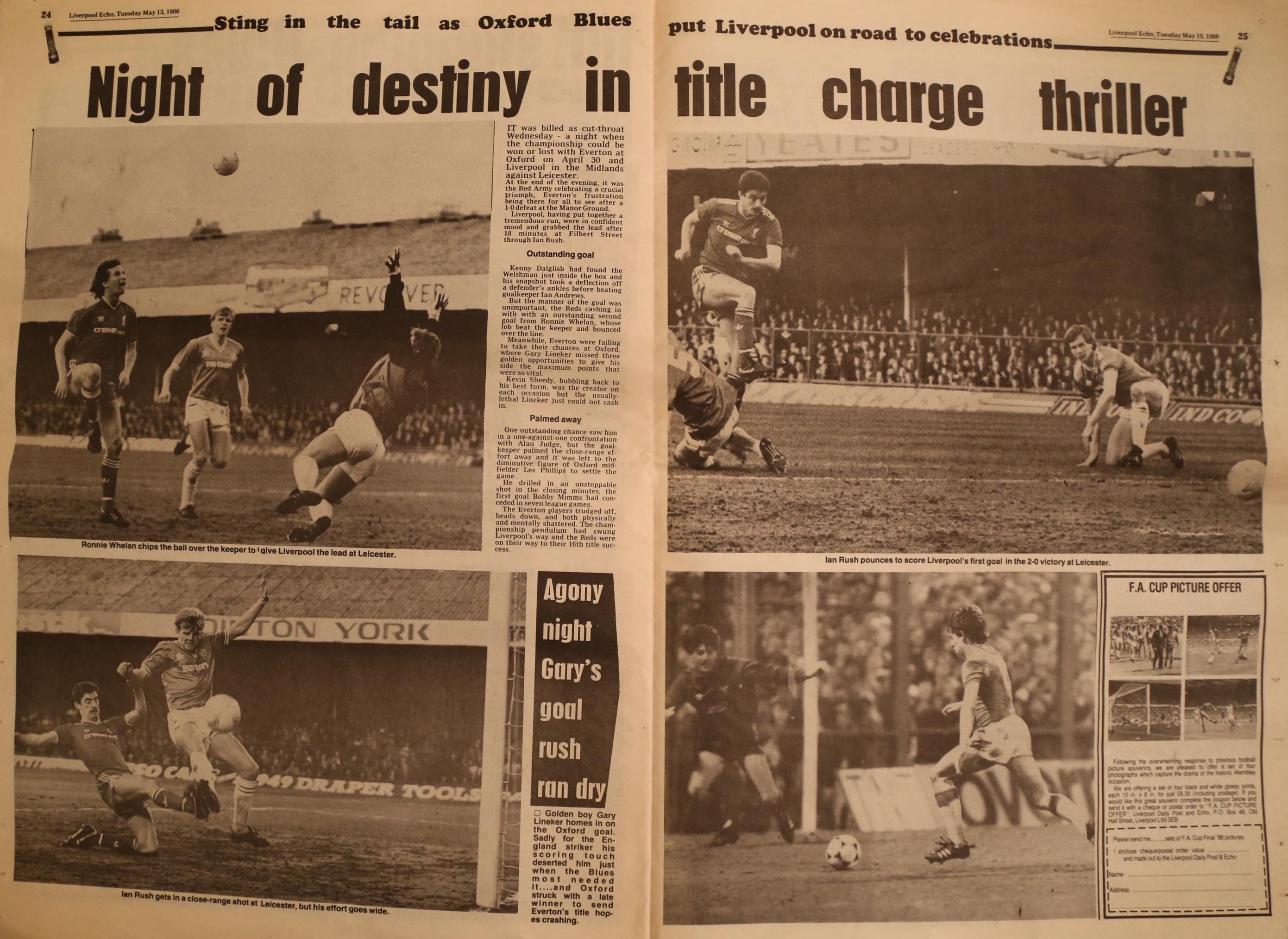 Night of destiny in title charge thriller - 30 April 1986