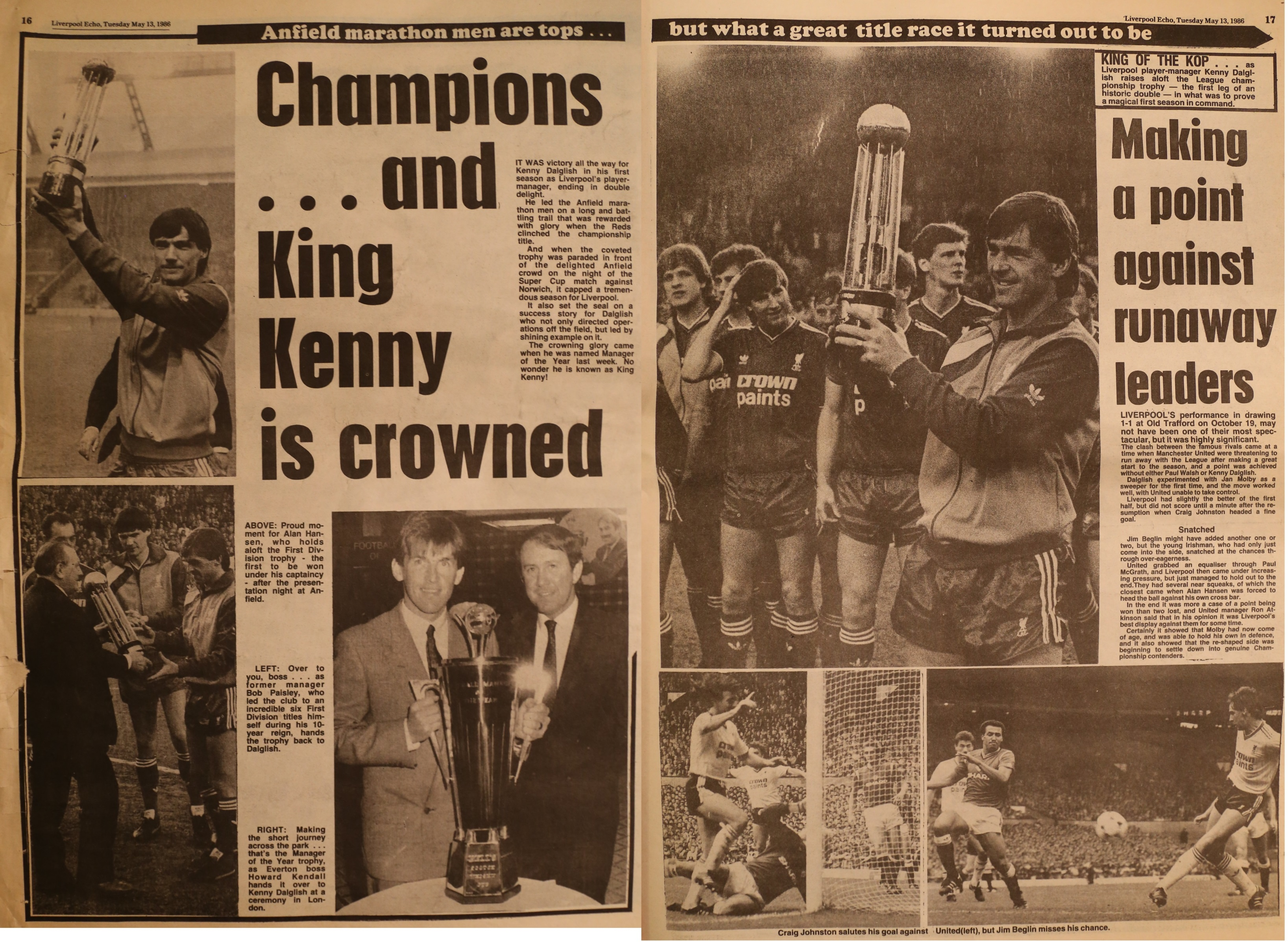 Champions and King Kenny is crowned - 13 May 1986