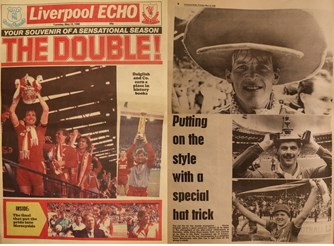 The double - cover of Liverpool Echo 13 May 1986
