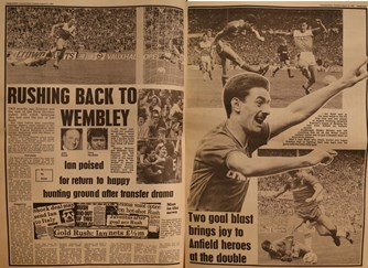 Flashback to 10 May - Rushing back to Wembley