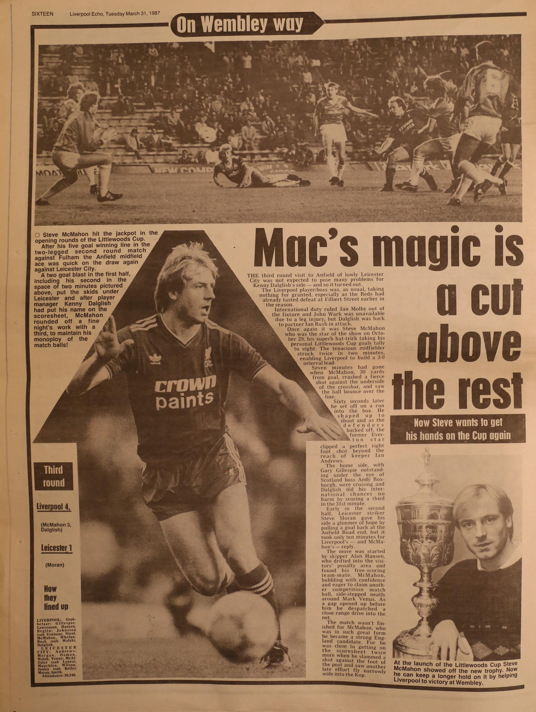 Mac's magic is above the rest - 29 October 1986