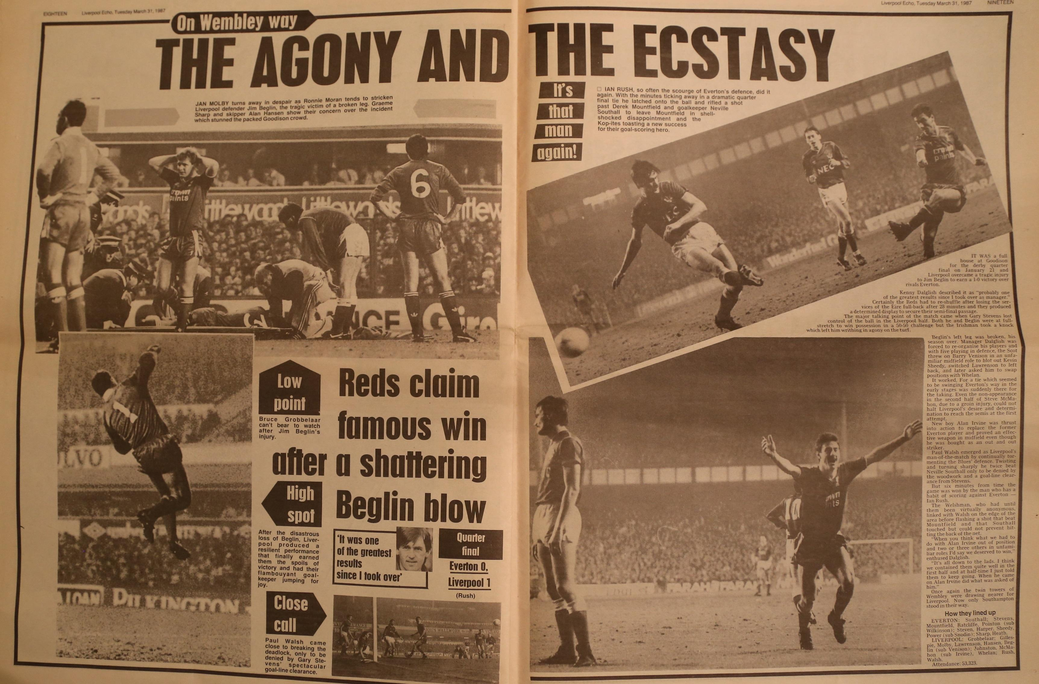 The agony and the ecstasy - 21 January 1987