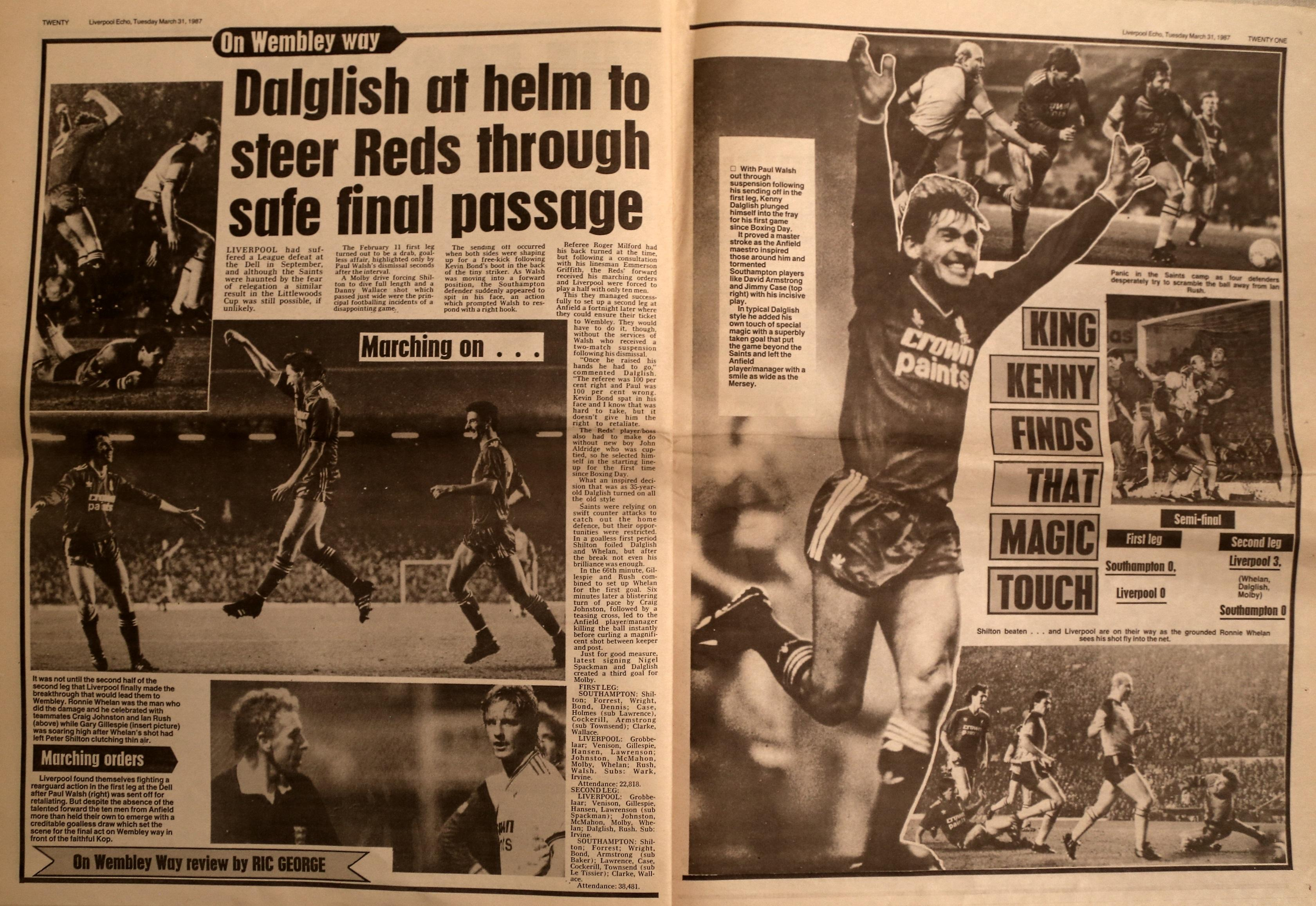 Dalglish at the helm to steer Reds through safe final passage - 25 February 1987
