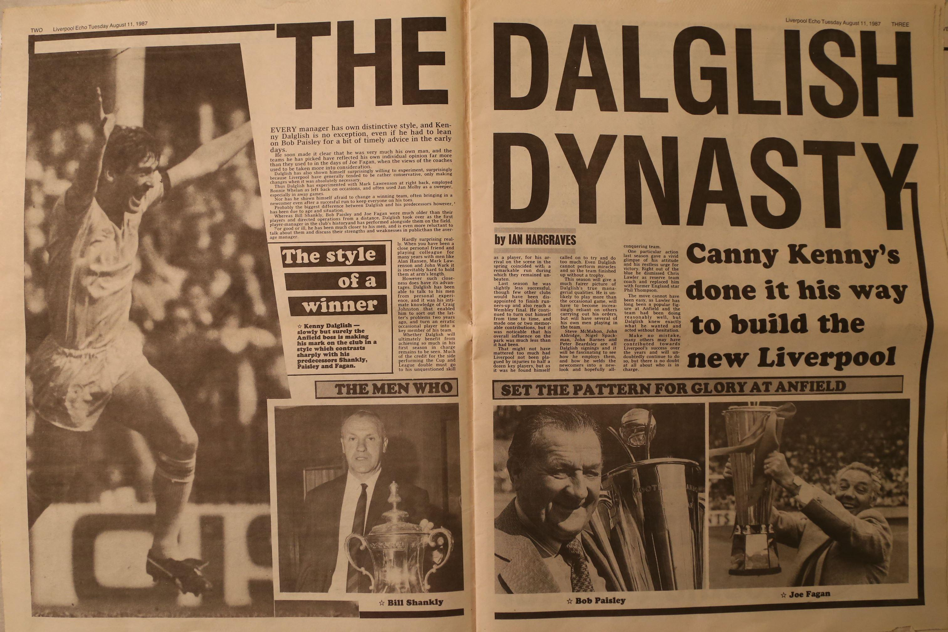 The Dalglish dynasty - 11 August 1987