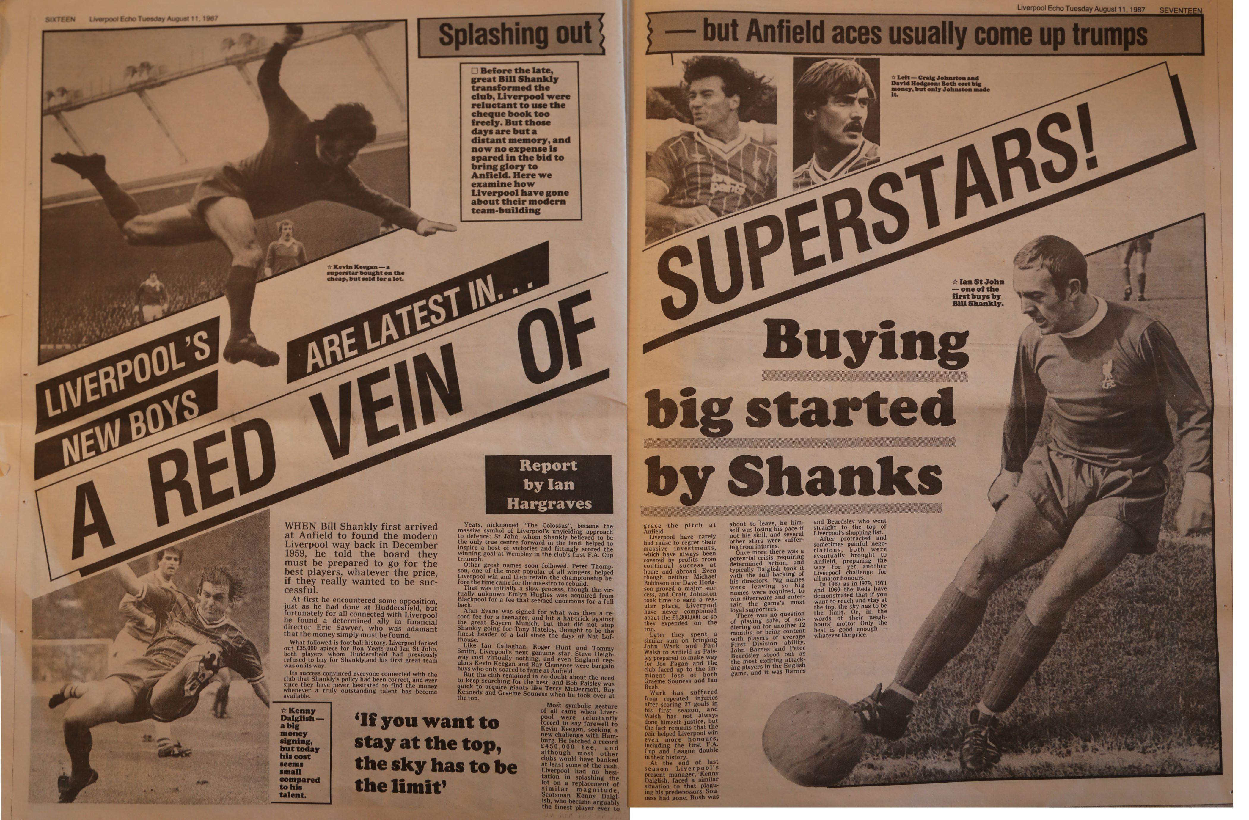 Red vein of superstars - 11 August 1987