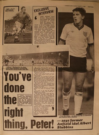 You've done the right thing, Peter, by Albert Stubbins - 11 August 1987
