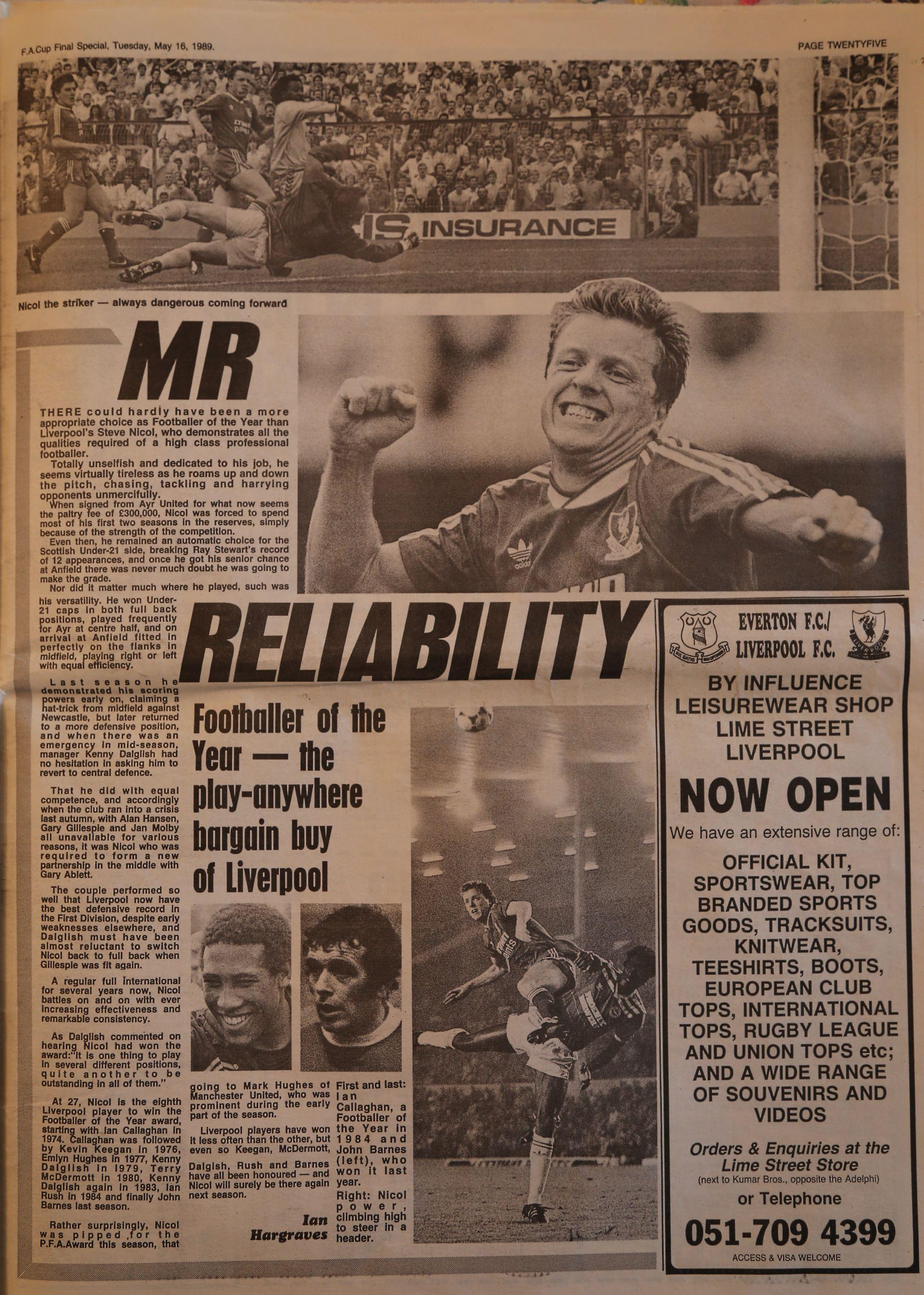 Nicol is Mr. Reliability! - 16 May 1989