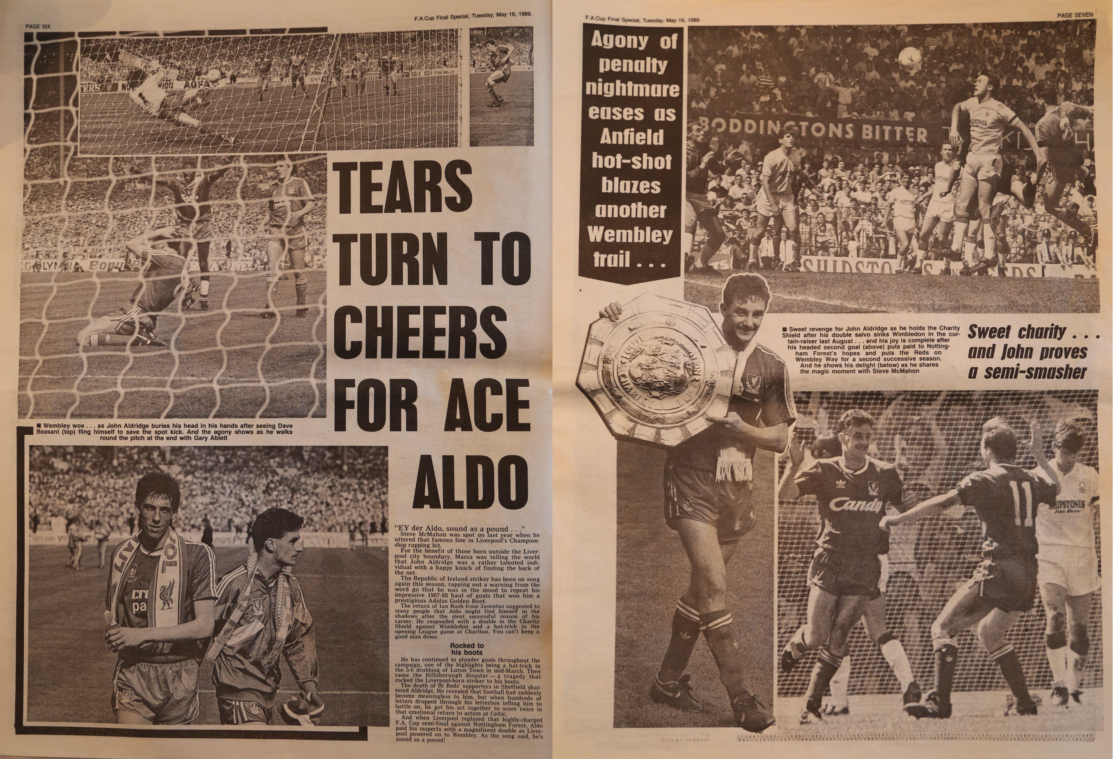 Tears turn to cheers for Aldo - 16 May 1989