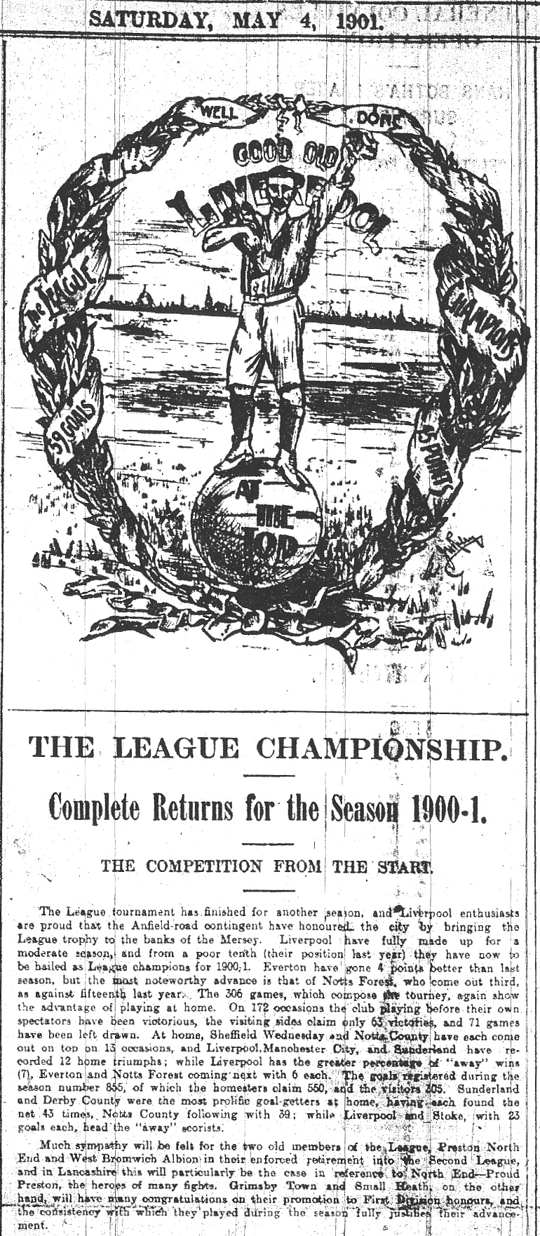 Good old Liverpool champions - 4 May 1901