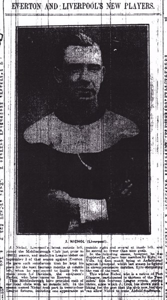 Nicholl introduced in the Echo in January 1914