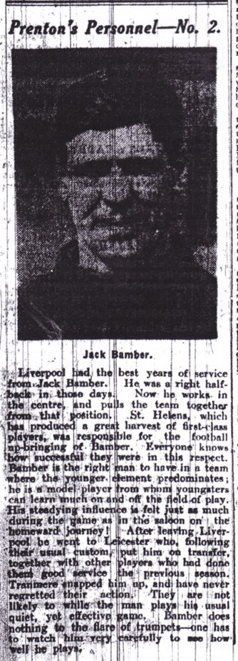 Profile on John Bamber in the Echo in 1928