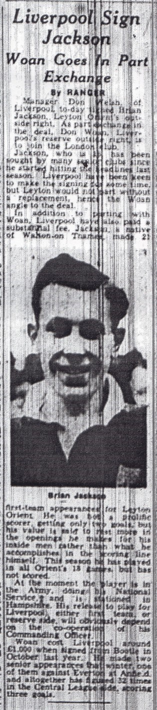 Liverpool sign Jackson - From 5 November 1951