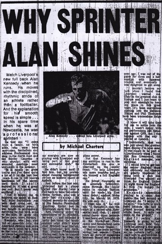 Why sprinter Alan Kennedy shines - from the Echo in 1978