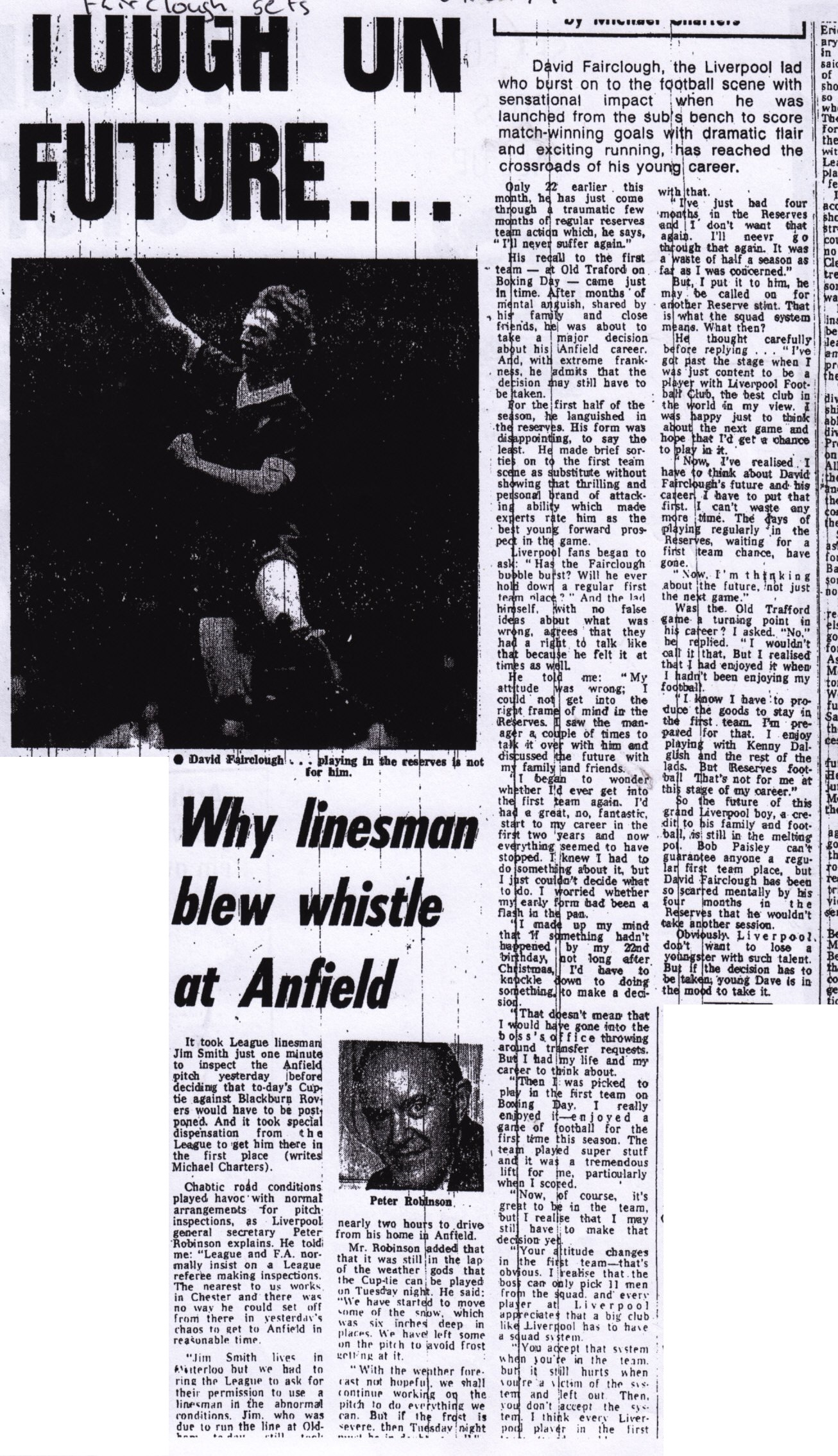 Fairclough on his future at Liverpool - 27 January 1979