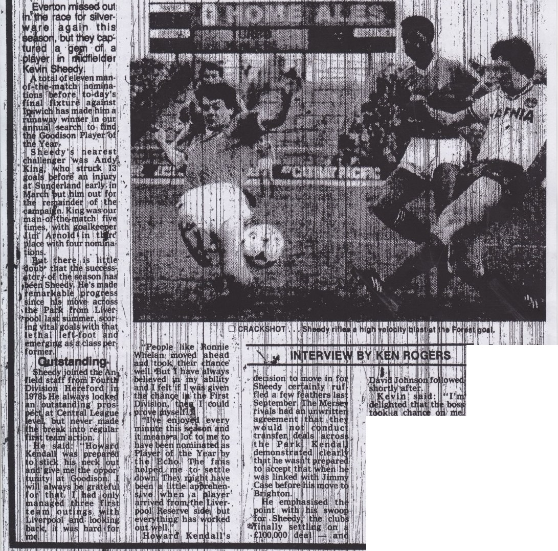 Sheedy thankful for Everton chance - May 1983