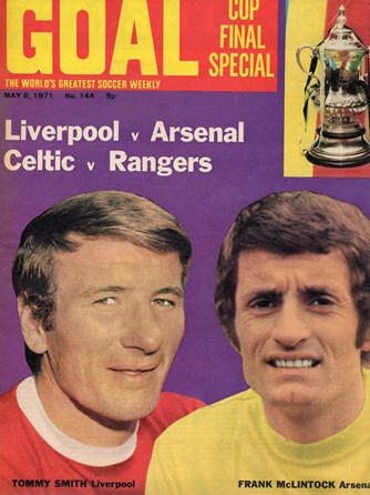 Tommy Smith on the cover of Goal 8 May 1971