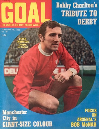 Peter Thompson on Cover of Goal