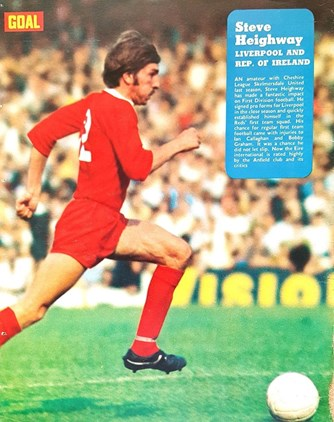 Heighway runs in Goal magazine