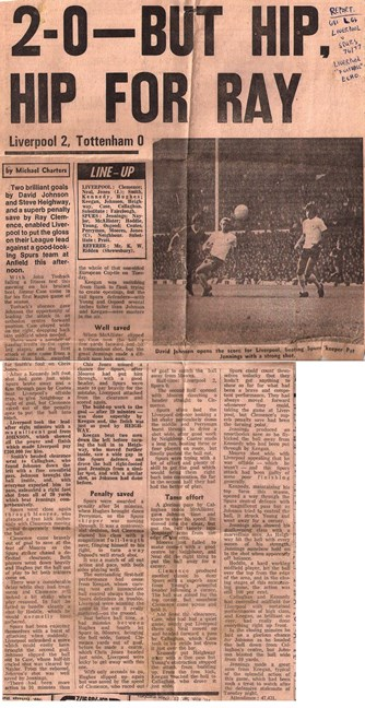 2-0 but hip hip for Ray! - 18 September 1976