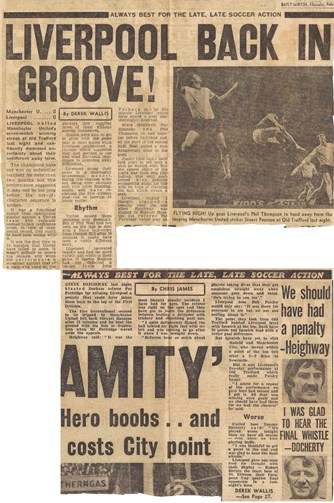 Referee Pat Partridge fails Heighway - 16 February 1977