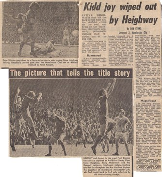 Kidd joy wiped out by Heighway - 9 April 1977