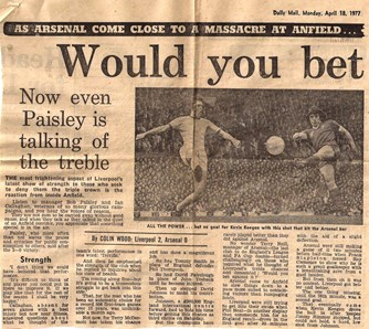 Callaghan realises the challenge to get back into the first eleven - 16 April 1977