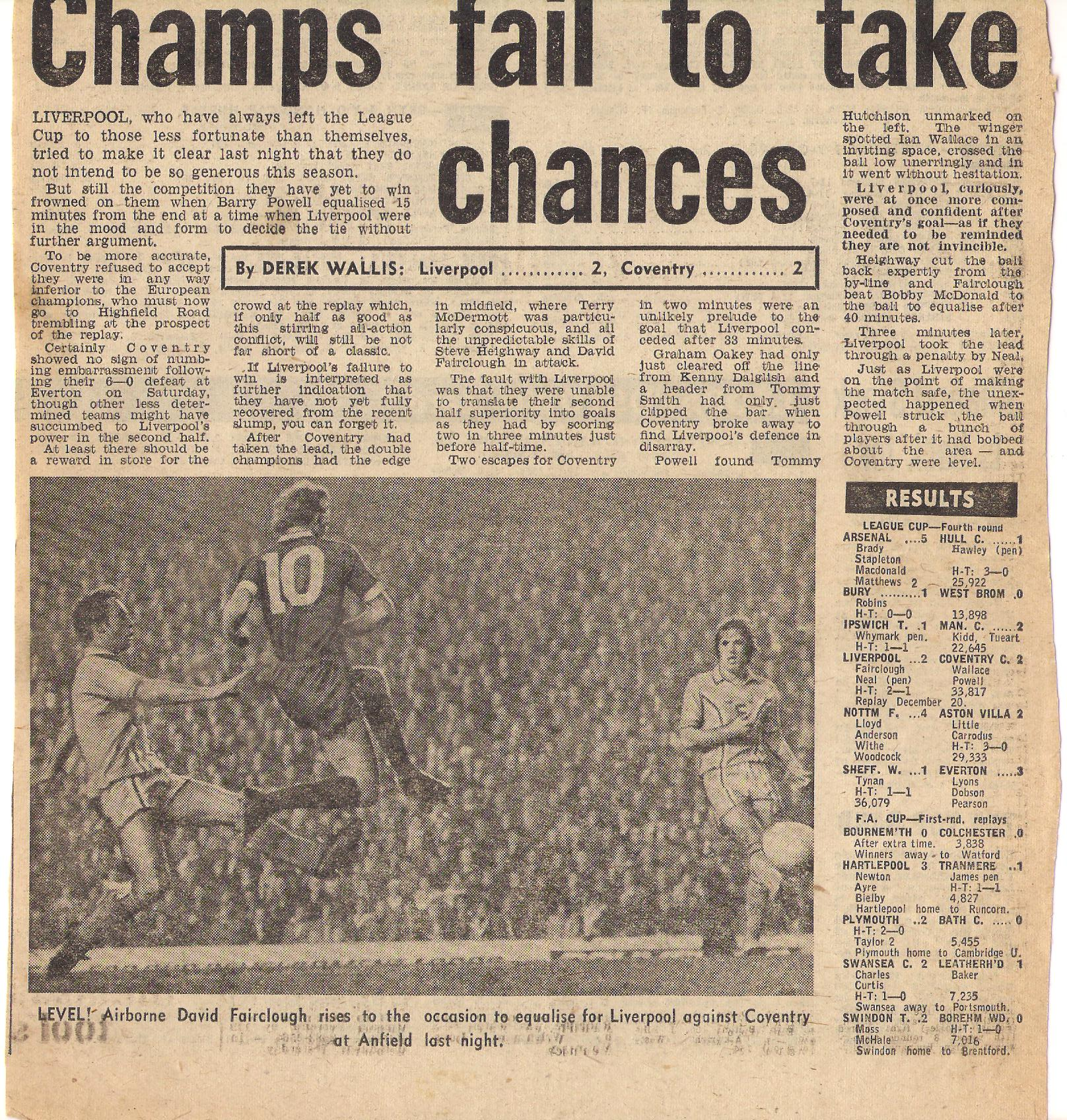 Fairclough rises to the occasion - 29 November 1977